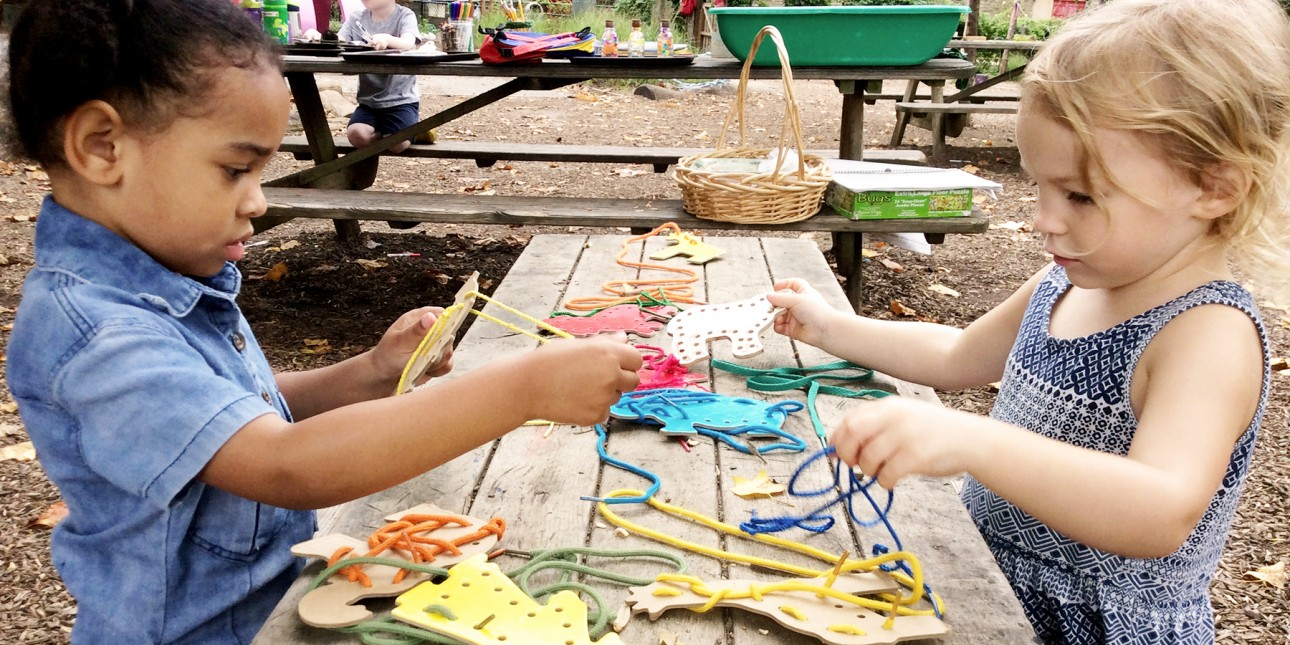 Learning activity on the nature playground