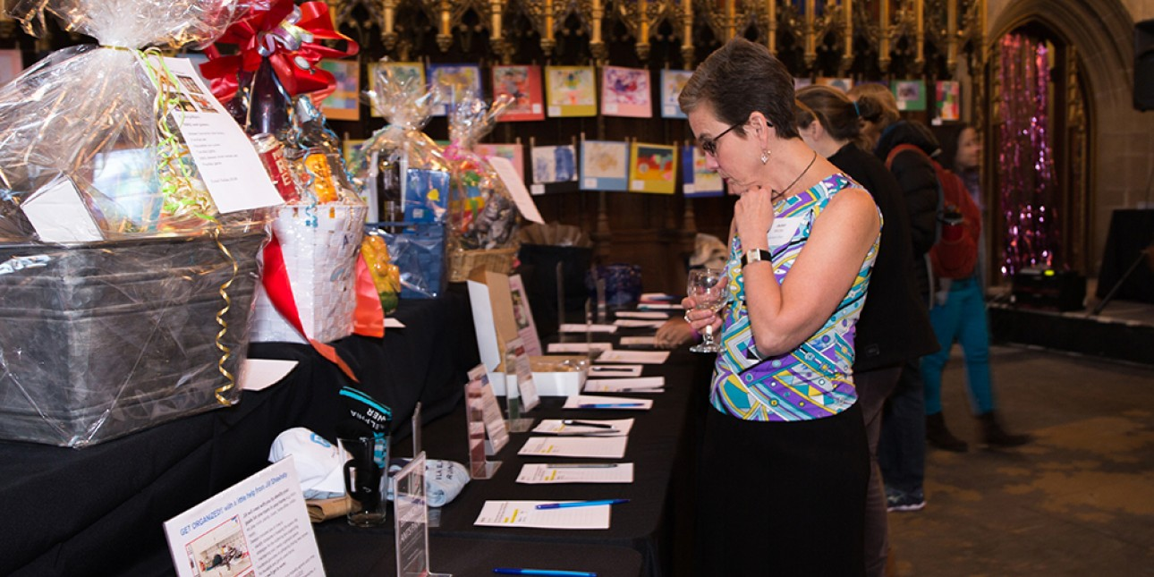 ArtStart 2018 Silent Auction table