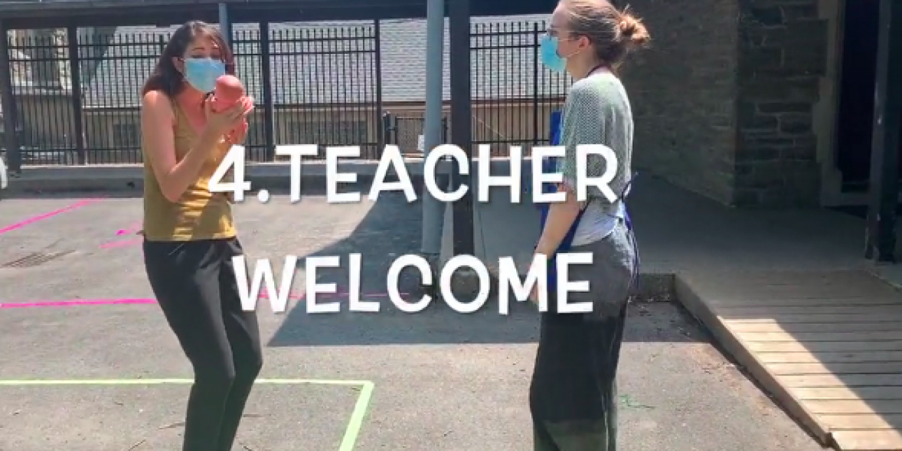 Teacher safely welcomes child to PIC