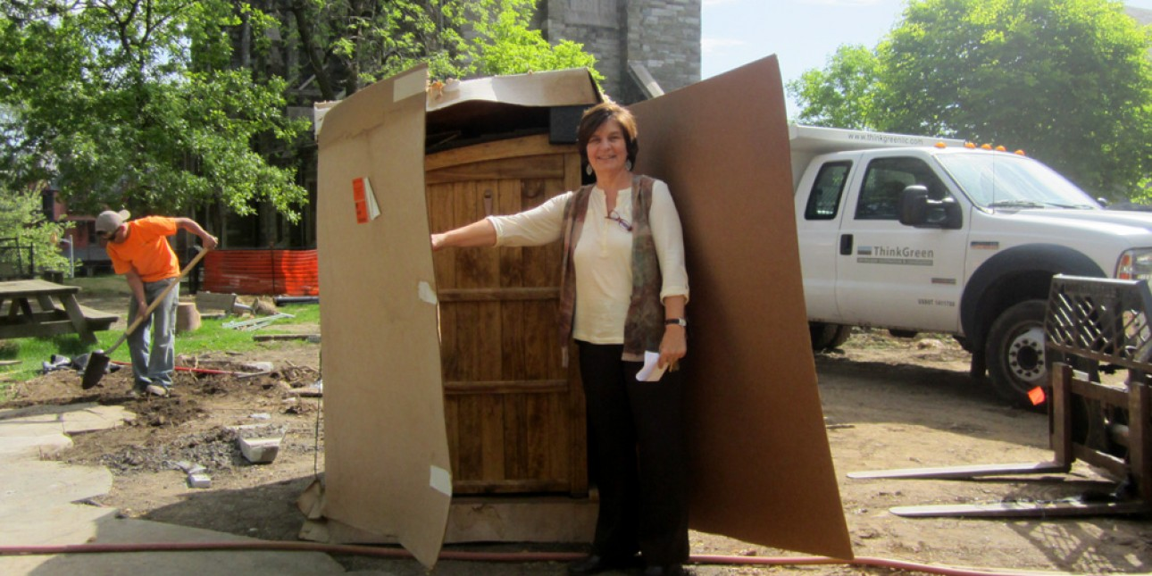 Deb Green with Block Shed