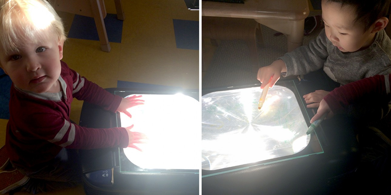 Young toddlers learn about light