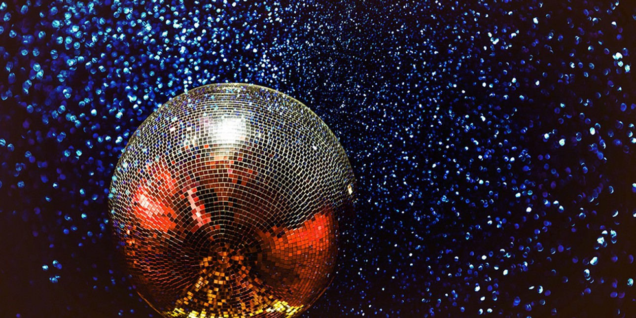 70s theme for ArtStart - disco ball