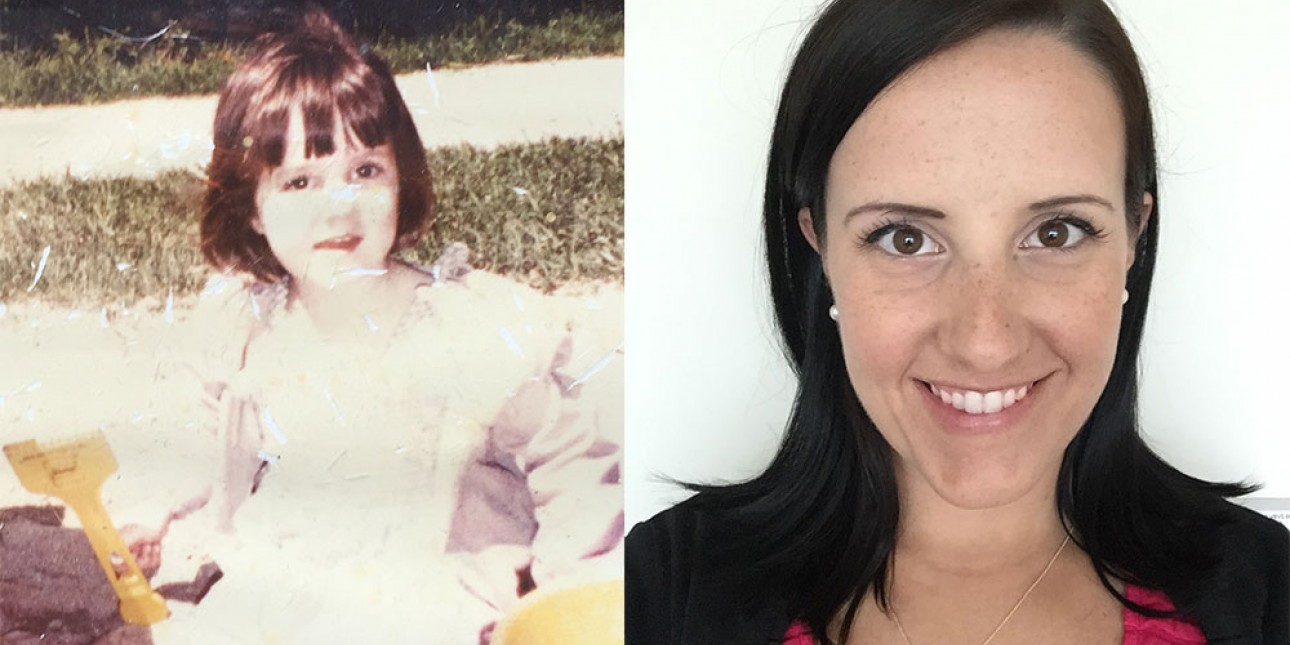Kate Devlin at PIC then and now