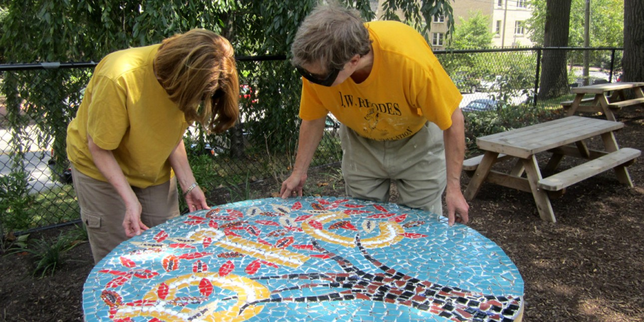 Area artists install original mosaic
