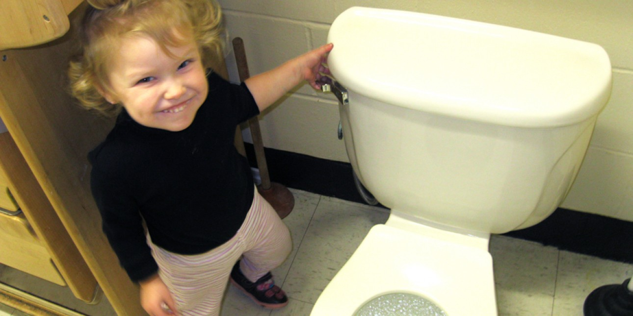 Toddler potty training time