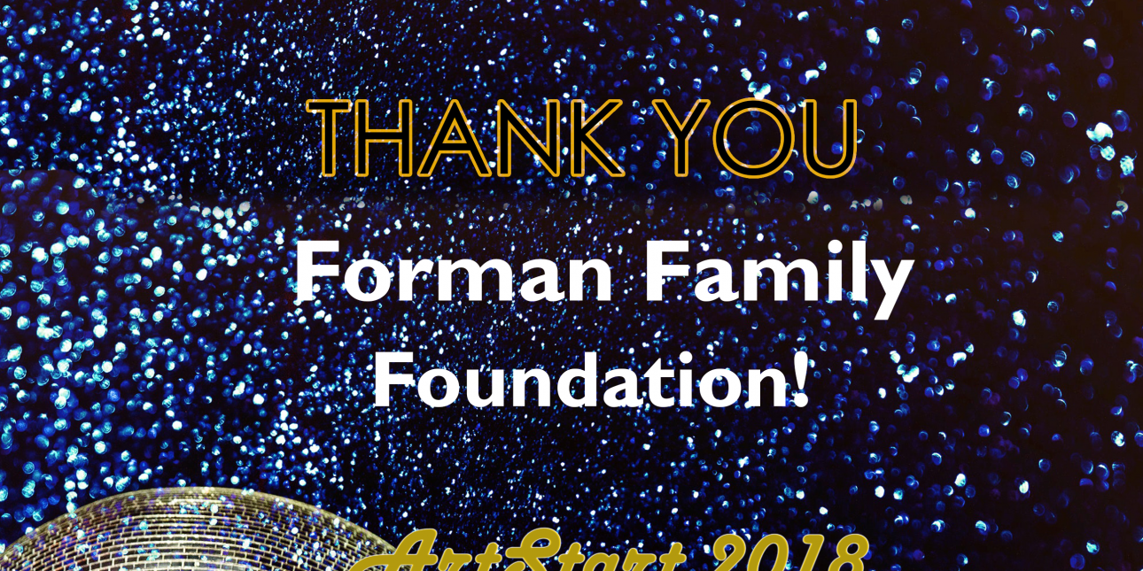 Thank you Forman Family Foundation