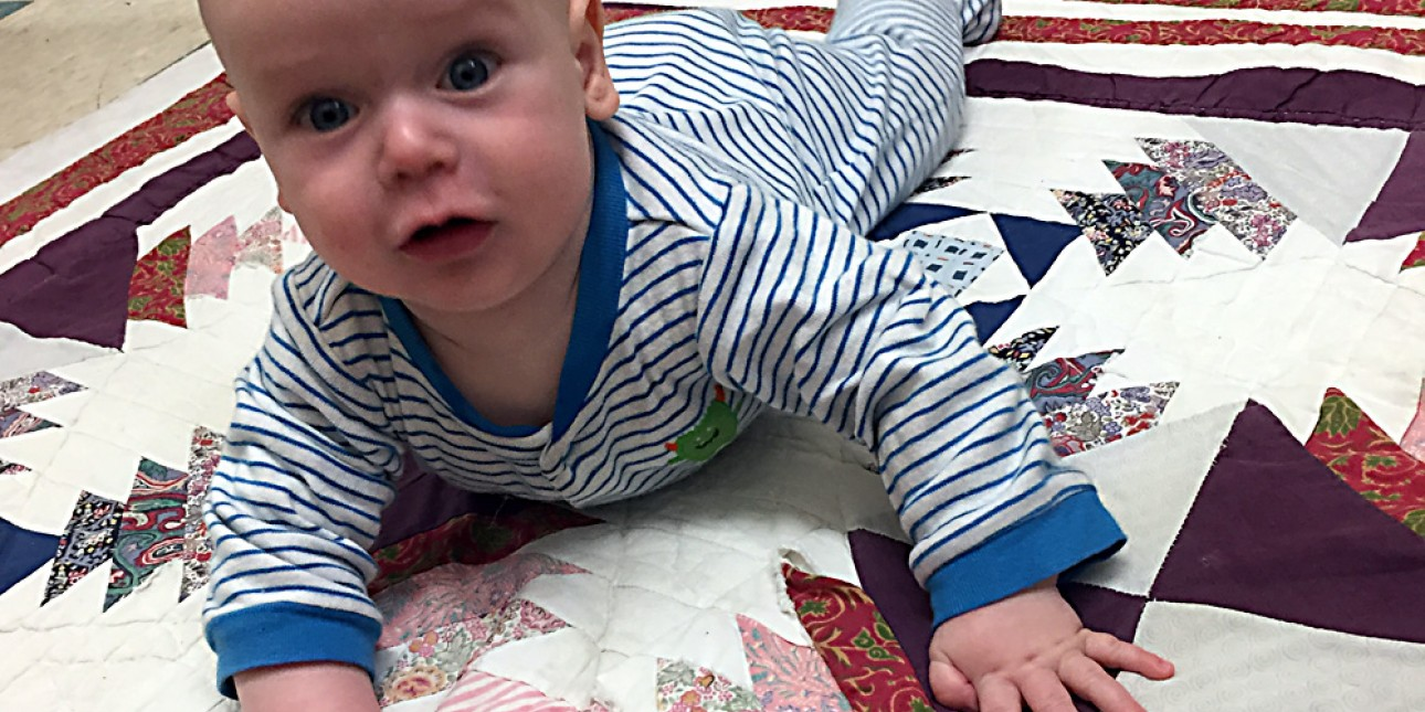 PIC infant on tummy time